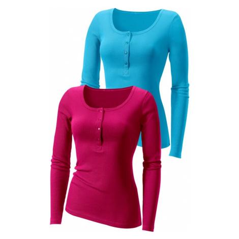 H.I.S Tričko  modrozelená / ružová