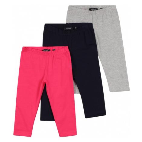 BLUE SEVEN Nohavice  ružová / svetlosivá / tmavomodrá