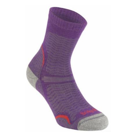 Ponožky Bridgedale Hike Ultra Light T2 Merino Performance Crew Women's multi purple/371