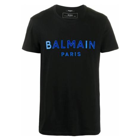 BALMAIN Paris Logo Blue tričko