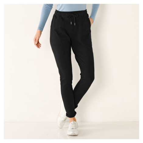 Blancheporte Meltonové nohavice s pružným pásom čierna
