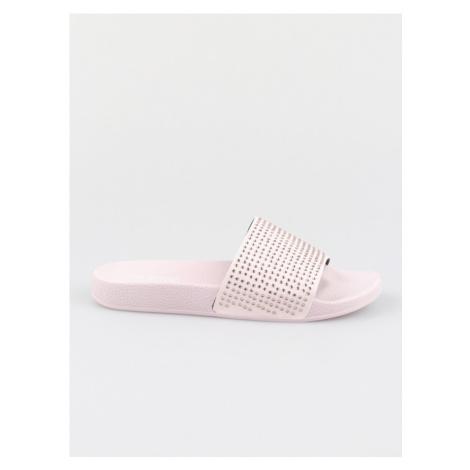 Papuče Trussardi Slipper Pu Strass Crystal Color Růžová