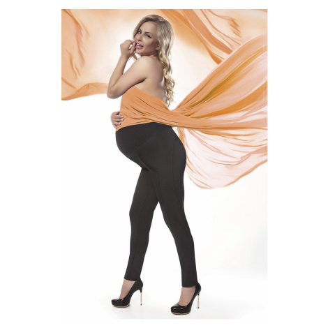 Čierne tehotenské legíny Stefanie 200DEN Bas Bleu