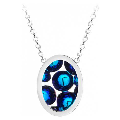 Preciosa Oceľový náhrdelník s trblietavým príveskom Idared 46