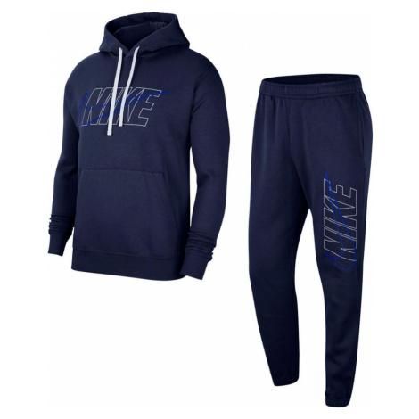 Nike Sportswear Joggingová súprava  námornícka modrá / biela