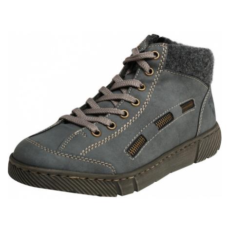 RIEKER Športové šnurovacie topánky  tmavosivá / modrosivá