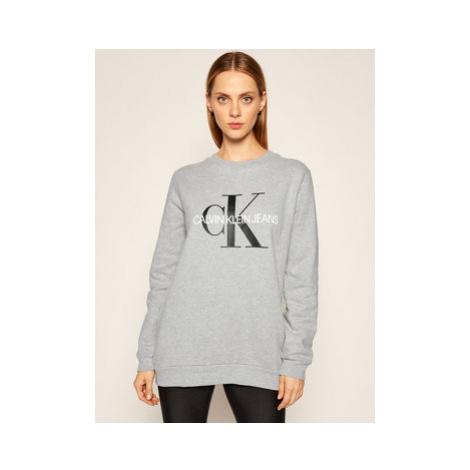 Calvin Klein Jeans Mikina Core Monogram Logo J20J207877 Sivá Relaxed Fit