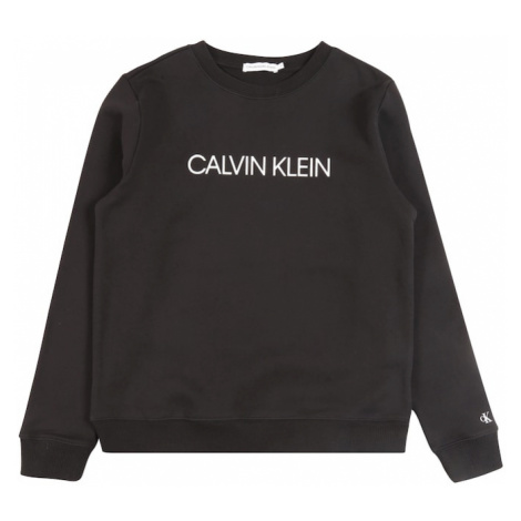 Calvin Klein Jeans Mikina 'INSTITUTIONAL'  čierna