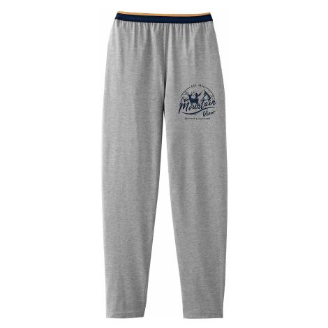 Blancheporte Pyžamové nohavice, sivý melír sivý melír