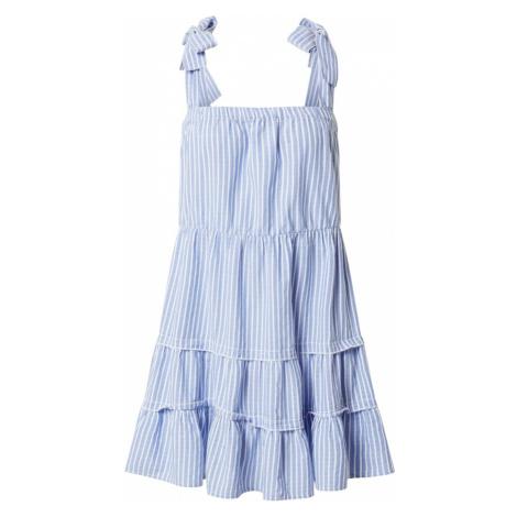 ONLY Šaty 'ONLGERRY'  šedobiela / modrá