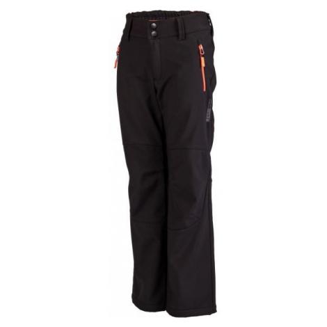 Lewro DAYK čierna - Detské softshellové nohavice