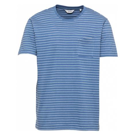 !Solid Tričko 'Reyes'  modrá / biela