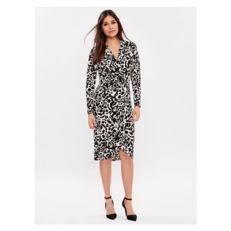 Bielo-čierne vzorované púzdrové šaty M&Co
