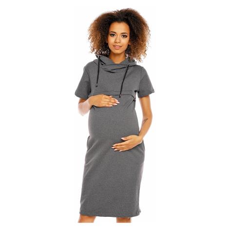 Sivé tehotenské šaty 1581 PeeKaBoo