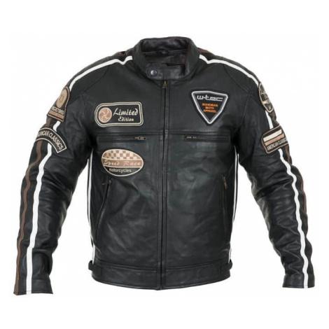 Pánská kožená moto bunda W-TEC Sheawen Black Farba čierna