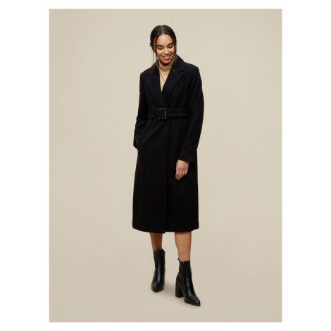 Čierny zimný kabát Dorothy Perkins