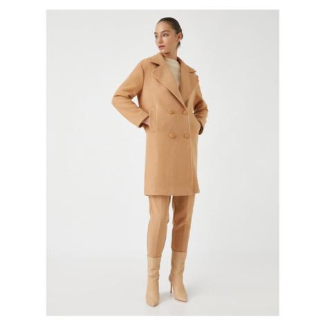 Koton Buttoned Pocket Detailed Coat