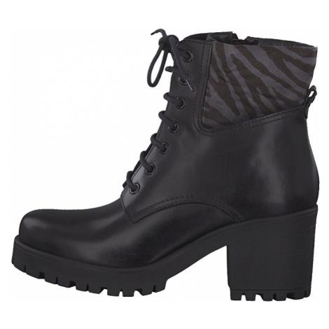 Tamaris Dámske členkové topánky 1-1-25217-33-026 Black/Zebra