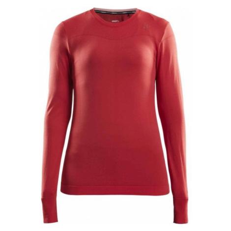 Craft FUSEKNIT COMFORT RN LS W červená - Dámske funkčné tričko