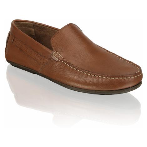 Skyline hladká koža Klasická nazúvacia obuv hnedá
