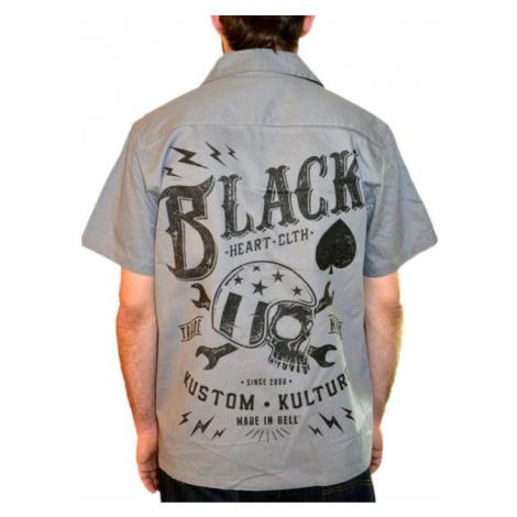 BLACK HEART Wrench Skull Šedá