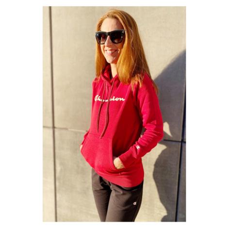 Champion mikina s logom dámska - červená Veľkosť: XS