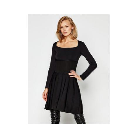 Pinko Úpletové šaty Croazia Al 20-21 BLK 01 1G15EG Y69G Čierna Slim Fit