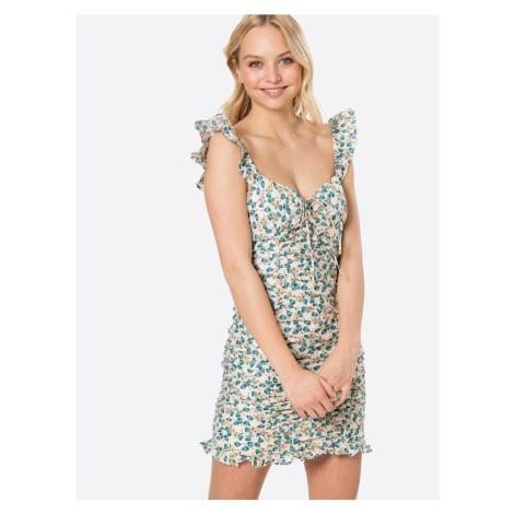 Love Triangle Šaty 'Emma'  krémová / nefritová / smaragdová / hnedá