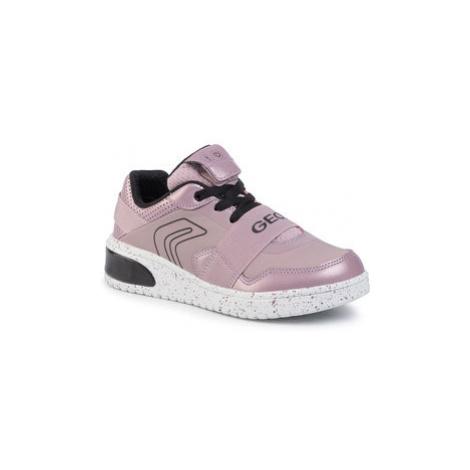 Geox Sneakersy J Xled G. A J928DA 0NF6K C0115 D Ružová