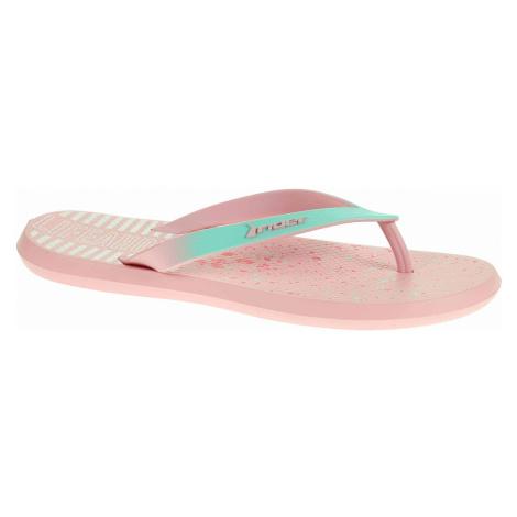 Dívčí plážové pantofle Rider 82365 20706 pink-green 82365 20706