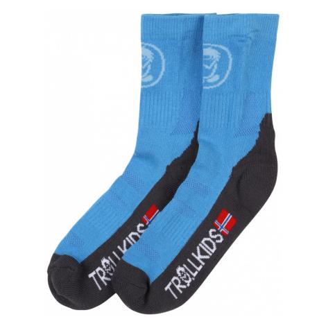 TROLLKIDS Ponožky  tmavosivá / biela / svetlomodrá / červená