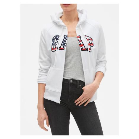 GAP biele dámska mikina s logom