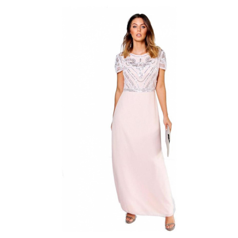 Dlhé trblietavé šaty FRANCESCA Boohoo