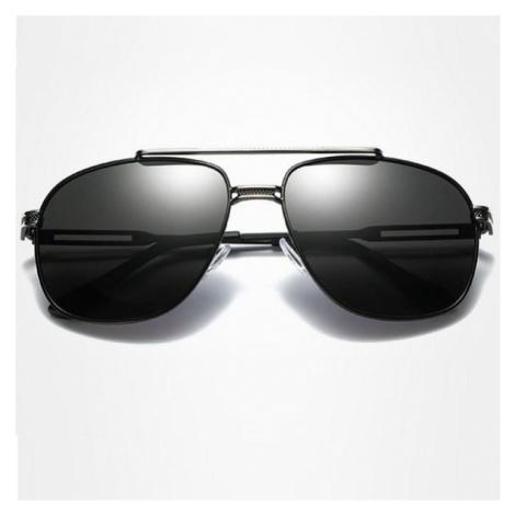 Polarizačné slnečné okuliare pilotky Andree srieborné čierne