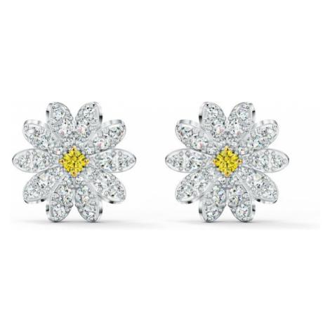 Swarovski Náušnice 'Eternal Flower'  biela / strieborná / žltá