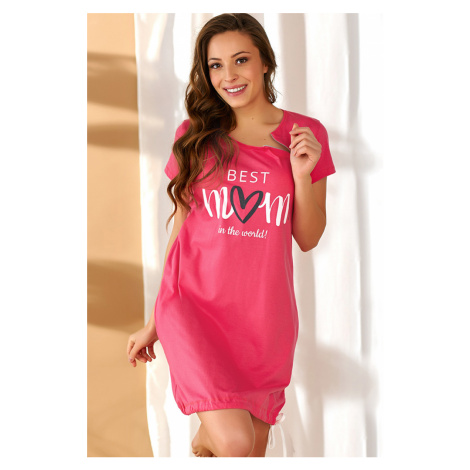 Ružová tehotenská nočná košeľa TCB9900
