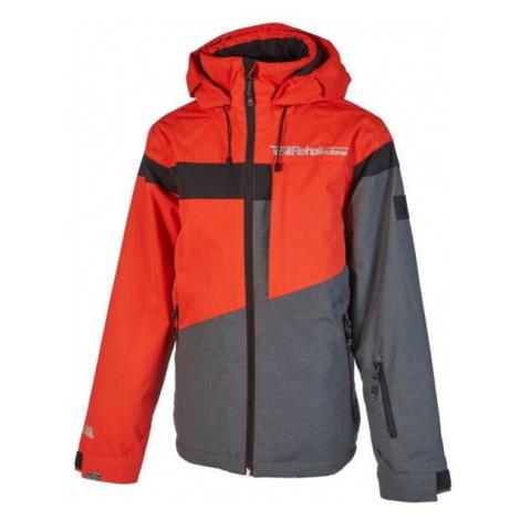 Rehall DYLAN šedá - Chlapčenská lyžiarska bunda