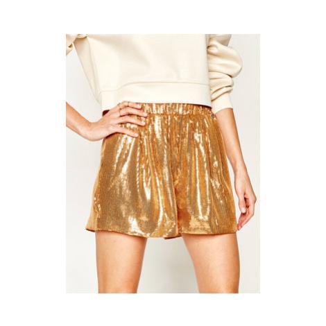 My Twin Bavlnené šortky 201MT2172 Zlatá Regular Fit