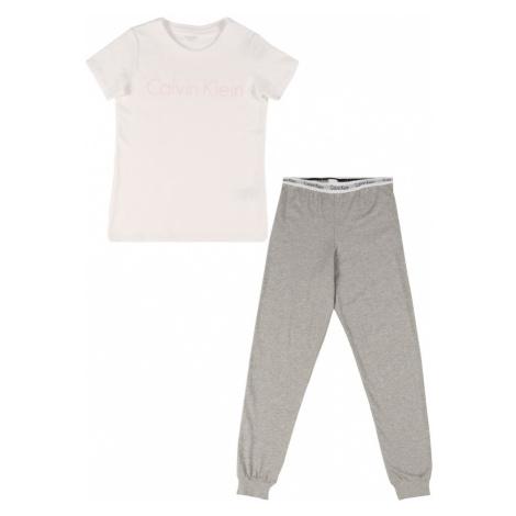 Calvin Klein Underwear Pyžamo  biela / sivá