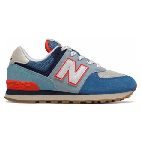 New Balance PC574SOS modrá - Detská voľnočasová obuv