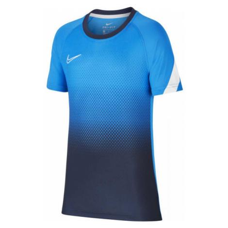 Nike DRY ACD TOP SS GX FP modrá - Chlapčenské futbalové tričko