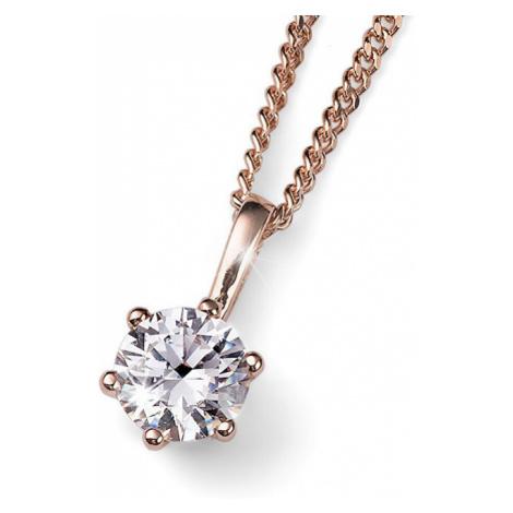 Oliver Weber Ružovo pozlátený strieborný náhrdelník s kryštálom Brilliance 61125RG (retiazka, pr