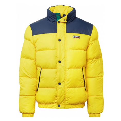 Tommy Jeans Zimná bunda  žltá / modrá Tommy Hilfiger