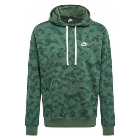 Nike Sportswear Mikina 'NSW CLUB'  tmavozelená / biela