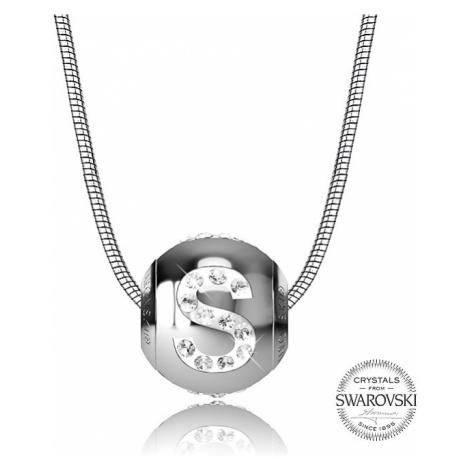 Levien Oceľový náhrdelník písmeno S Cleto-S