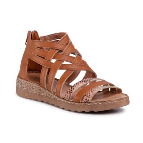 Sandále Lasocki P195 Prírodná koža(useň) - Zamš
