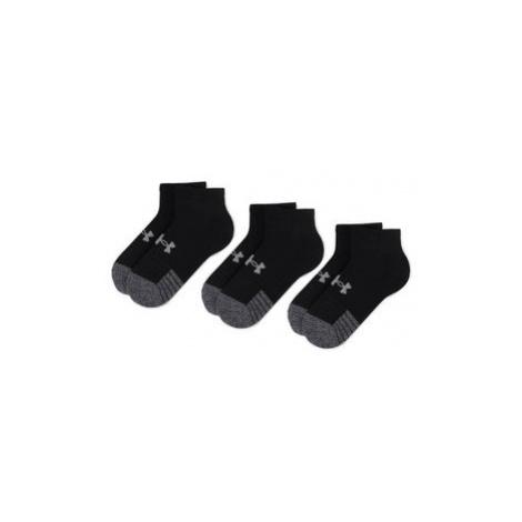 Under Armour Súprava 3 párov kotníkových ponožiek unisex Heatgear Lo Cut Sock 1346753-001 Čierna