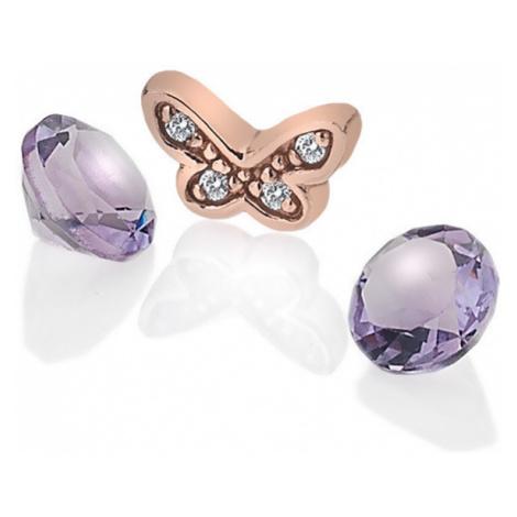 Hot Diamonds Element motýľ s ametysty Anais AC113