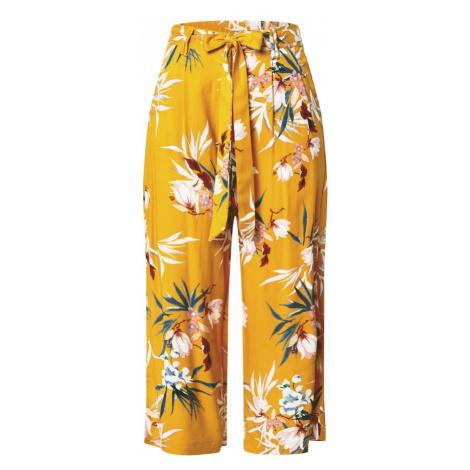 ONLY Nohavice  zlatá žltá / zmiešané farby