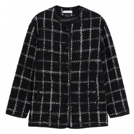 MANGO Prechodná bunda 'Copito'  čierna / biela